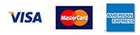クレジットカードOK!VISA、MasterCard、American Express